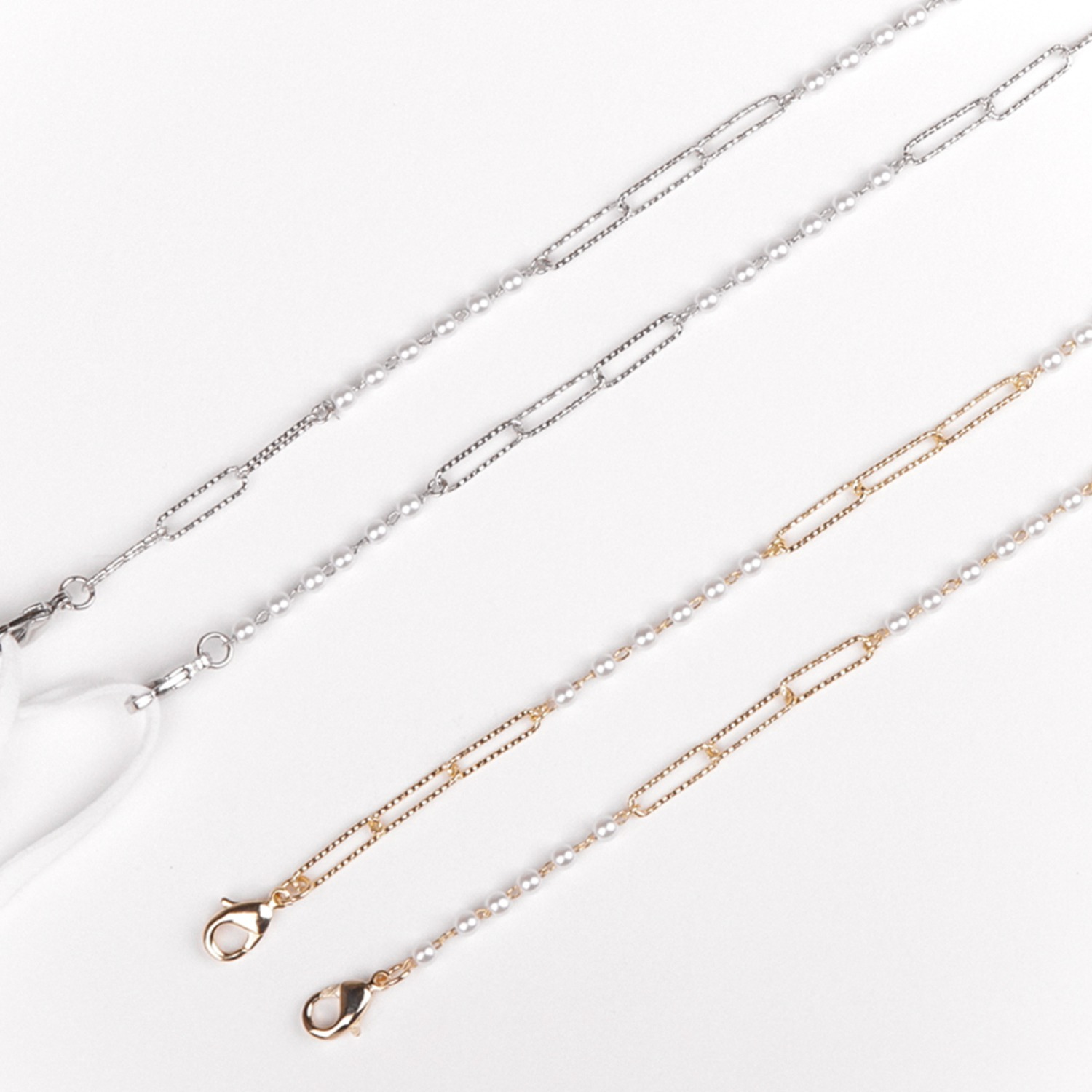 M.Edge pearl chain _ 2 color (silver/gold)